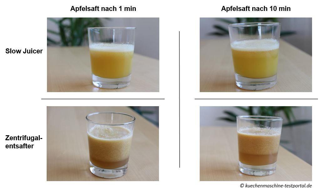 Entsafter Test - Saftqualität von Slow Juicer und Zentrifugalentsafter im Vergleich