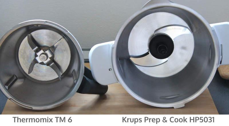 Krups Prep & Cook HP5031 Edelstahlschuessel Vergleich mit Thermomix