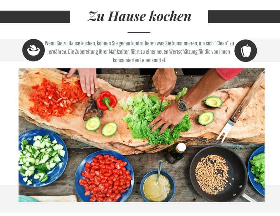 Clean Eating Selber zu Hause kochen