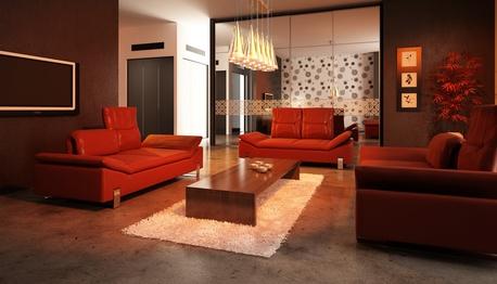 Rotes Sofa: Luxuriös Und Elegant
