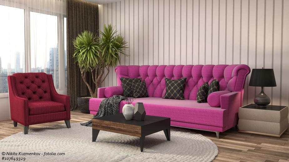 sofas in pink mutige akzente setzen. Black Bedroom Furniture Sets. Home Design Ideas