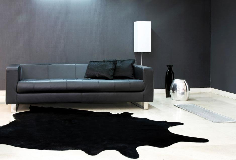 Schwarze Sofas - Wohnzimmer Motto \