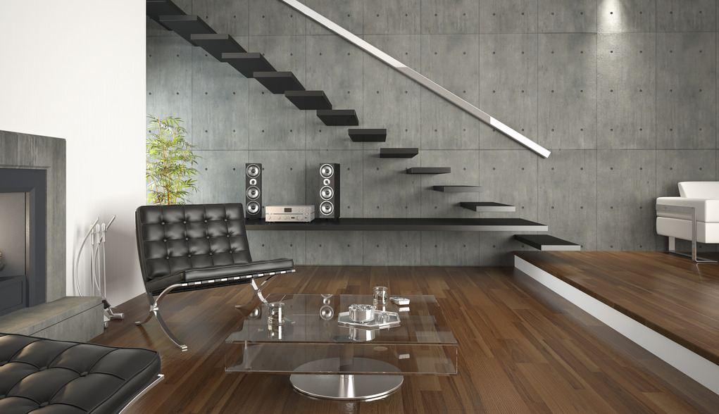Wohnzimmer Schwarzer Sessel Mit Glastisch