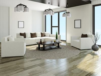 Frische Wohnzimmer Idee in reinem Weiß