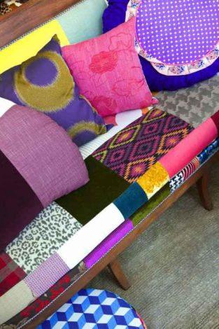 Sofa Patchwork - mehrfarbig bunt