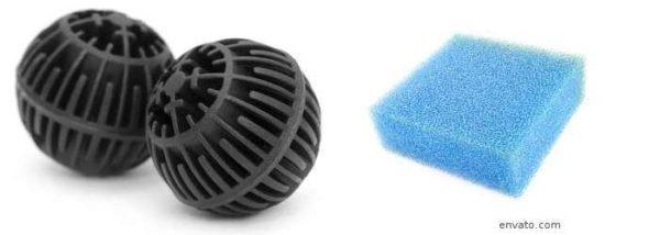 Biologische Filtermaterialien im Teichfilter