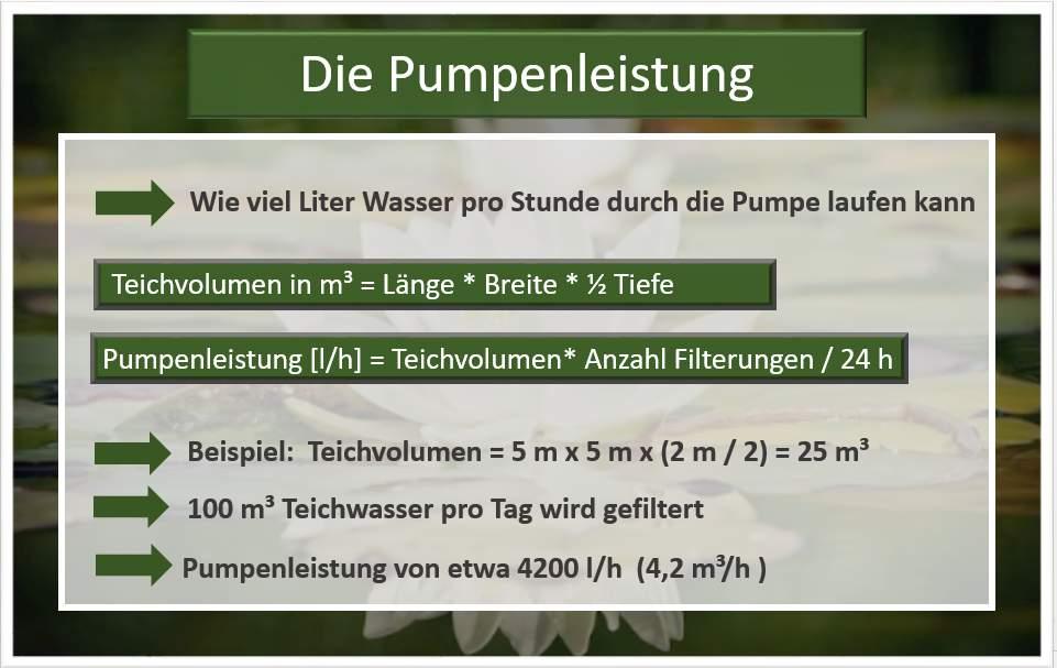 Pumpenleistung berechnen