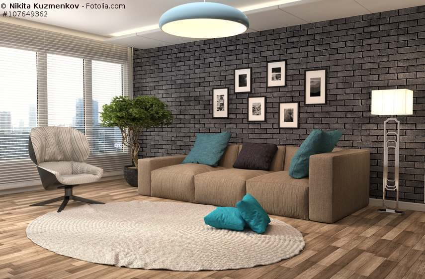 sofa in braun wohnzimmer mit erdfarben einrichten. Black Bedroom Furniture Sets. Home Design Ideas