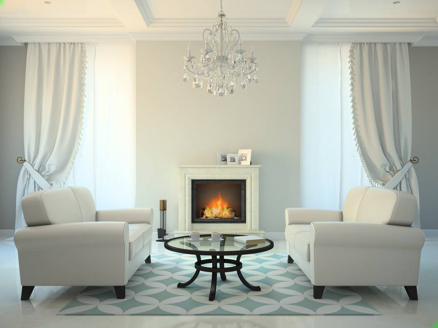 Klassisch Barock   Sofa Weiß, Kamin   Envato